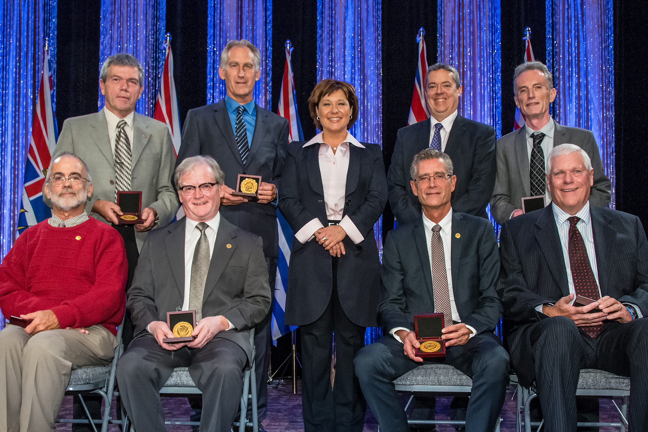 In 2014, Premier Christy Clark celebrated the exceptional accomplishments of British Columbia's public service employees and unveiled a new form of recognition, the BC Public Service Hall of Excellence, at the Premier's Annual Innovation and Excellence Awards ceremony.