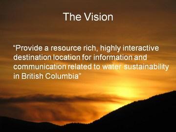 Water Bucket - vision statement