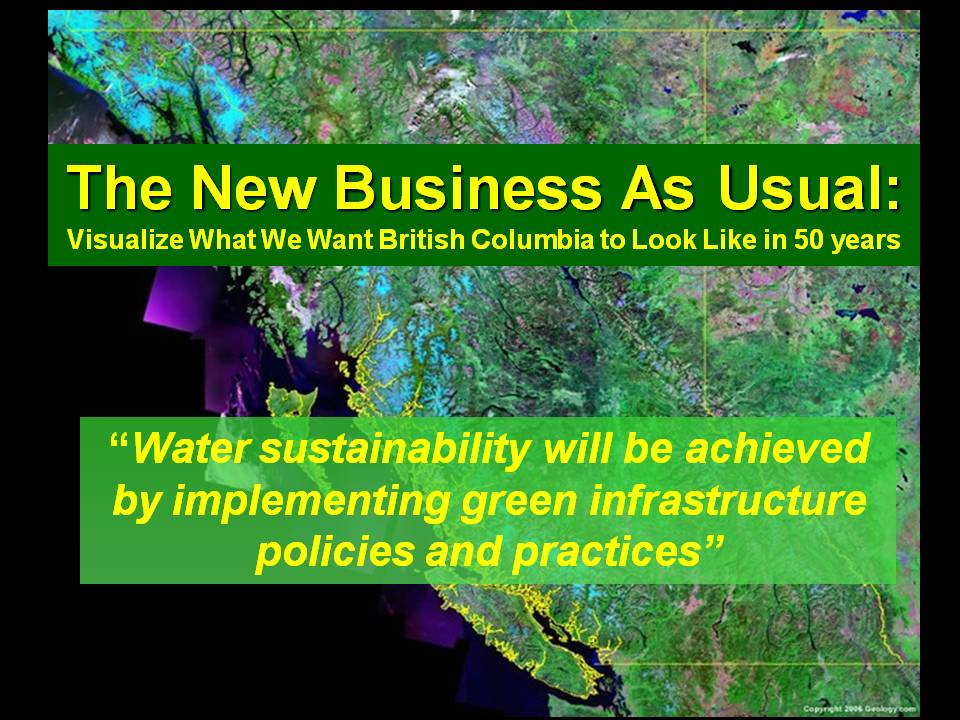 2009_CANSEE Conference_Water Sustainability & Green Infrastructure