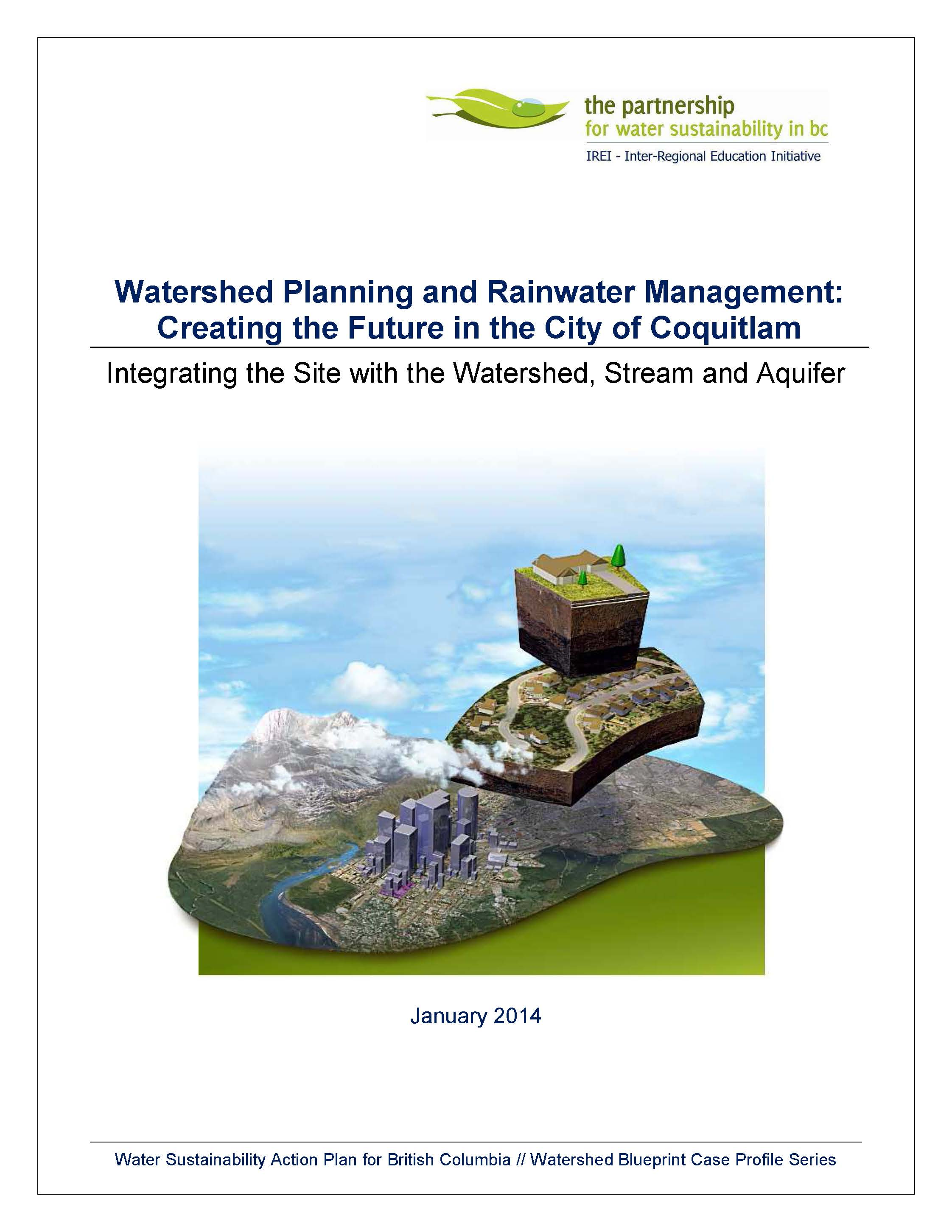 Coquitlam Watershed Planning and Rainwater Management Article (Jan 2014)_cover