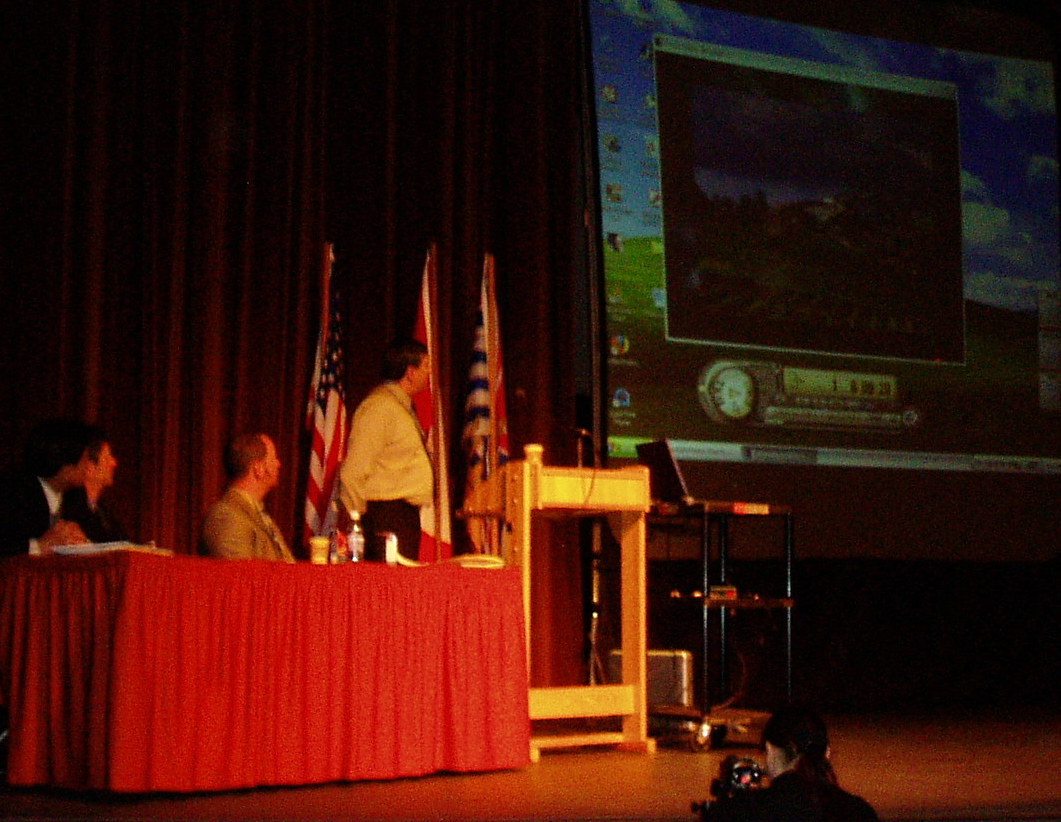 A video followed the Minister's announcement that launched waterbucket.ca at Penticton Conference in April 2005