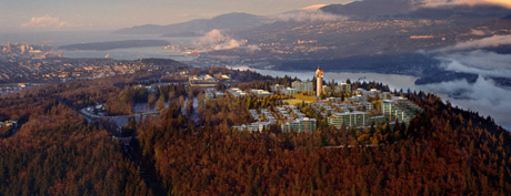 UniverCity Sustainable Community atop Burnaby Mountain in the City of Burnaby, Metro Vancouver Region