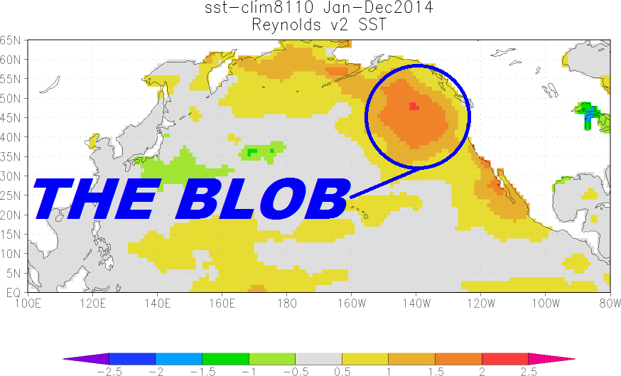 "Acknowledgment: ""North Pacific Update: The Blob's Strengthening Suggests It's Not Ready to Depart"", by Bob Tisdale, WUWT, April 2015"