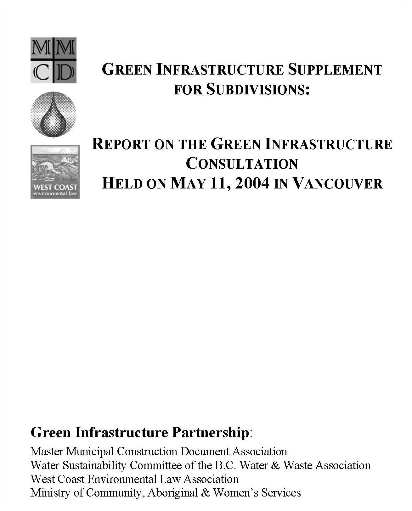 GreenInfrastructure_ConsultationReport_June2004_cover