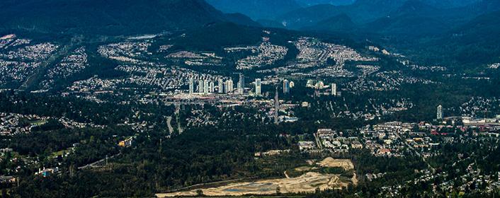 aerial of Coquitlam