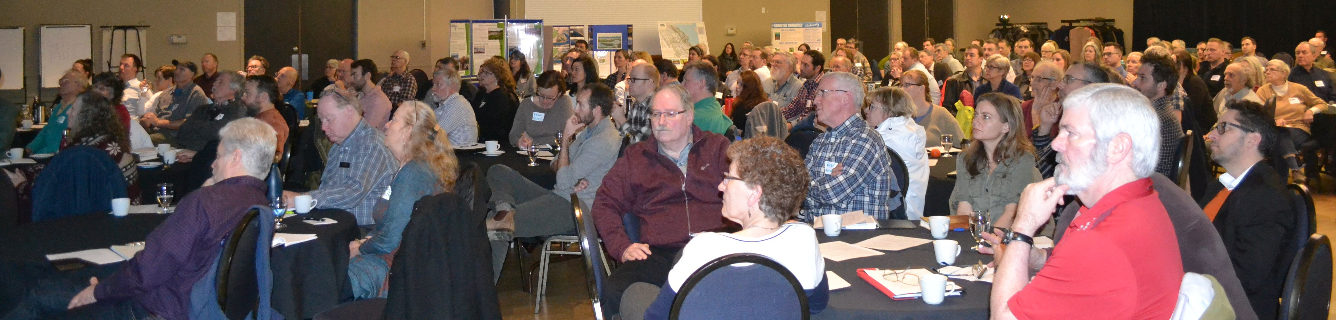 Capacity crowd for the Comox Valley Eco-Asset Symposium, held at the Filberg Centre in the City of Courtenay on Vancouver Island