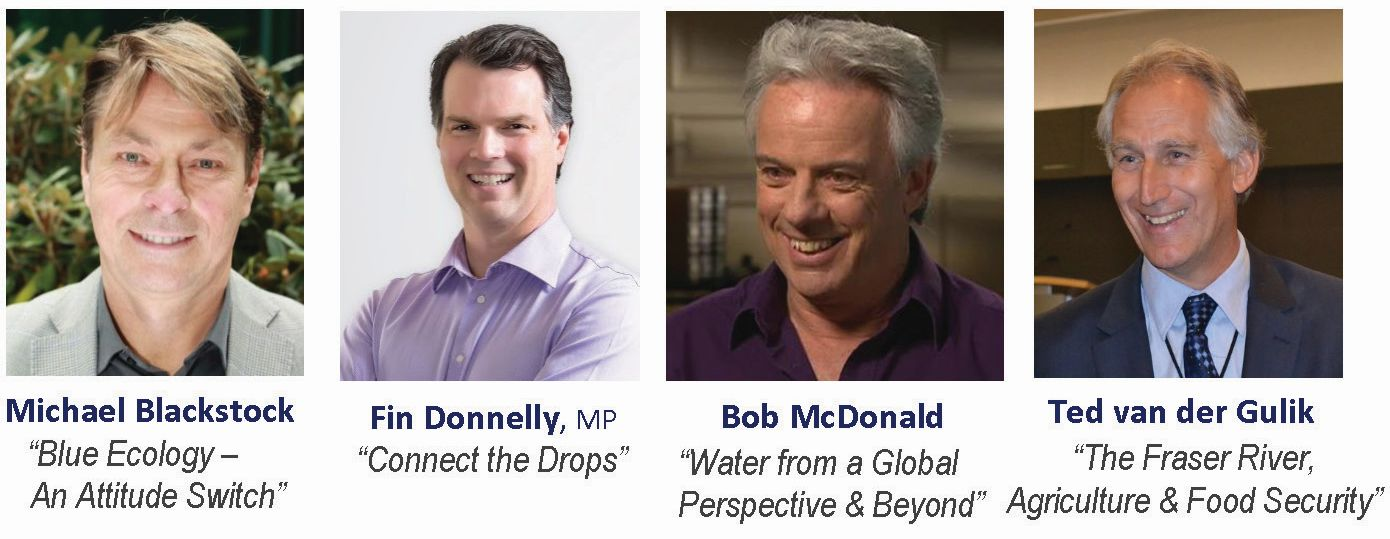 The four featured presenters on the Blue Ecology Workshop team