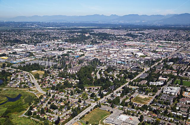 Aerial view of urban development in the Township of Langley