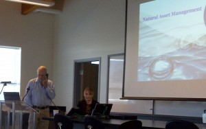 Dave Newman delivering the webinar at Metro Vancouver's Annacis Island Research Centre