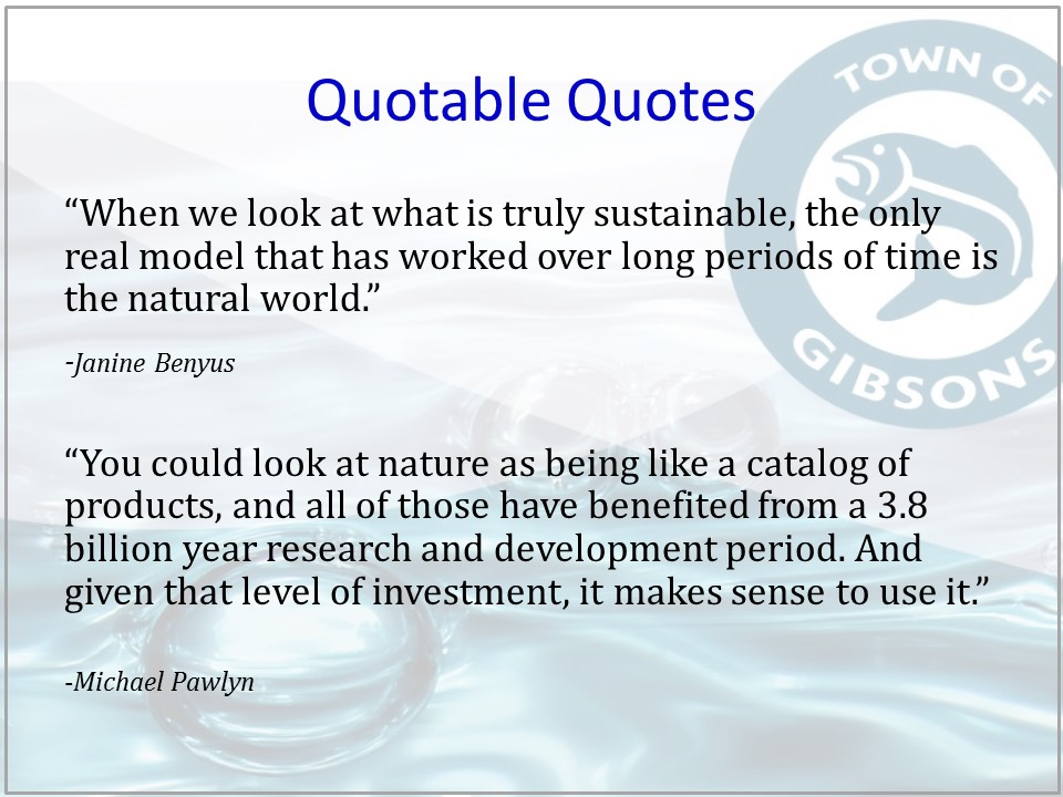 Gibsons Natural Asset Mgmt_quotable quotes
