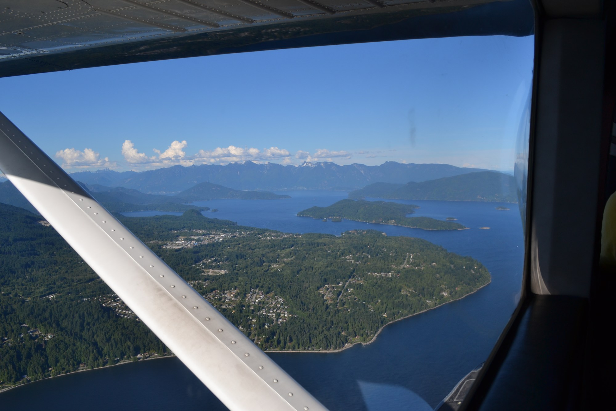 Town of Gibsons on the Sunshine Coast near Metro Vancouver. Howe Sound is in the background.