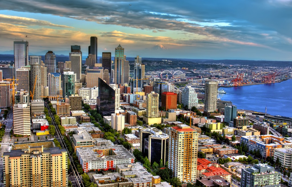 panorama view of Seattle's Belltown