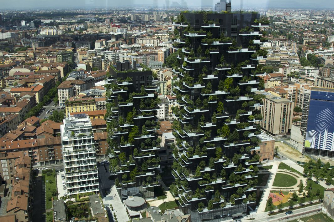 "The Bosco Verticale (""Vertical Forest"") in Milan has hundreds of trees and more than 2,000 plants embedded into its façade. CREDIT: Courtesy of Luca Nebuloni/Flickr"