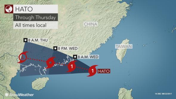 Typhoon Hato track