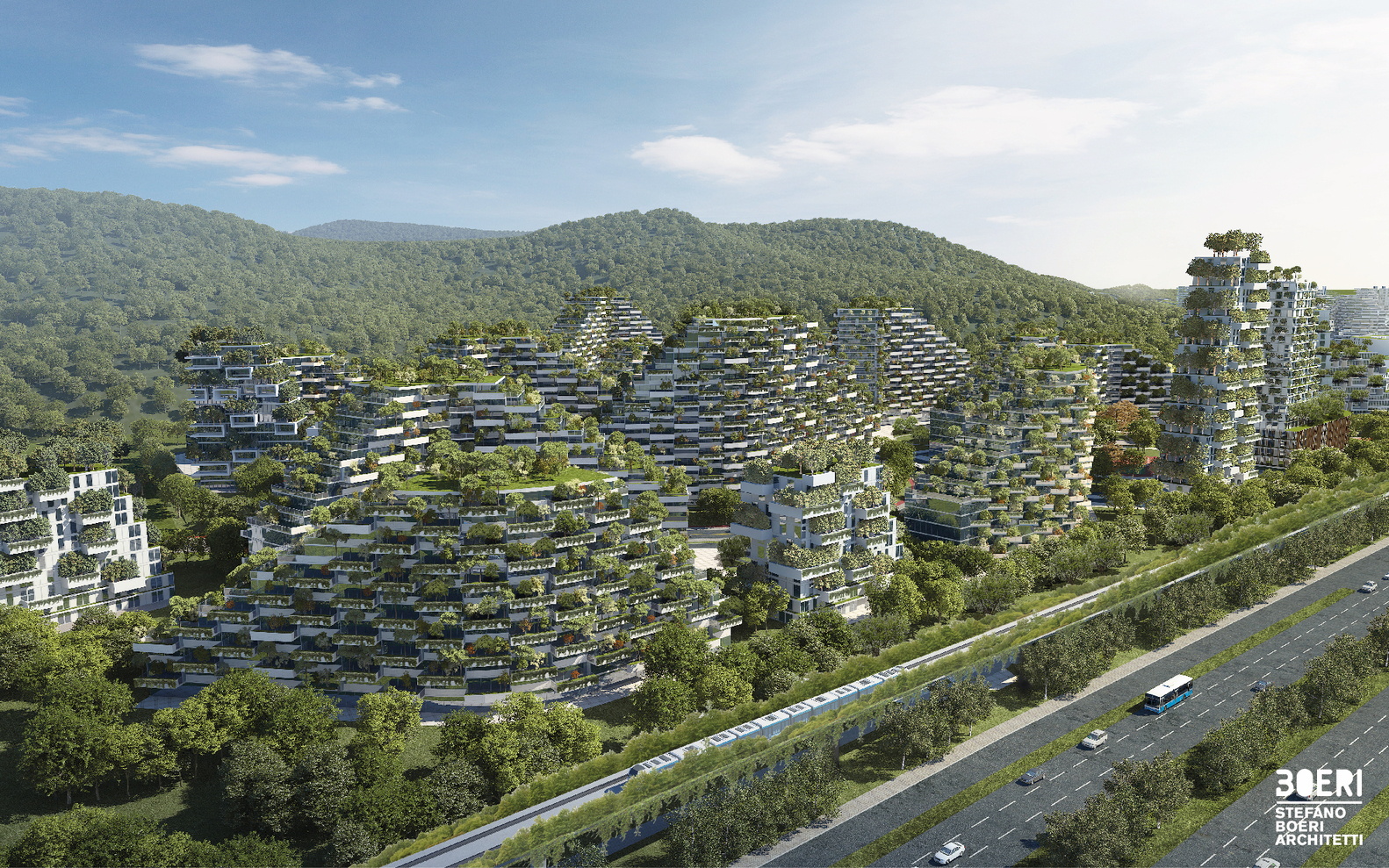 The Liuzhou Forest City project will eventually accommodate 30,000 people. To learn more, visit https://www.stefanoboeriarchitetti.net/en/