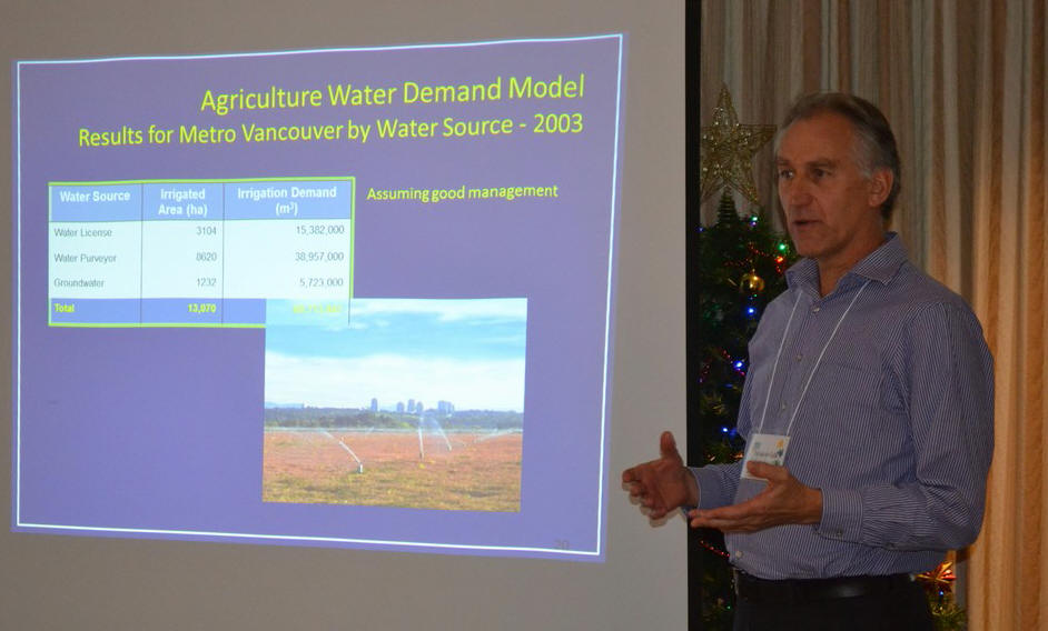 Ted van der Guilik speaking at the Partnership's 2013 Annual General Meeting