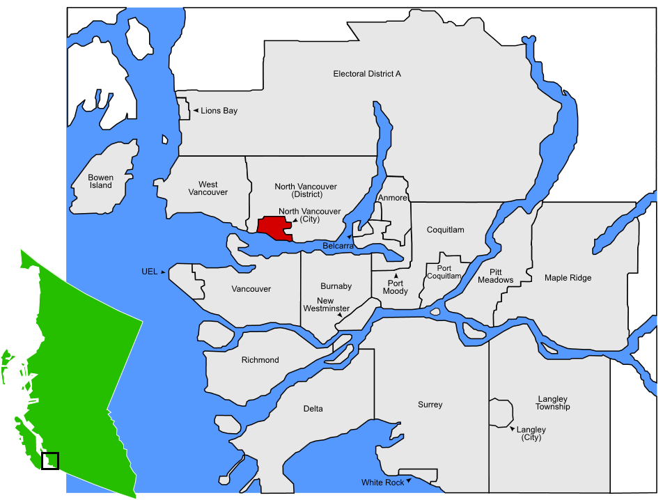 location map_North Vancouver City