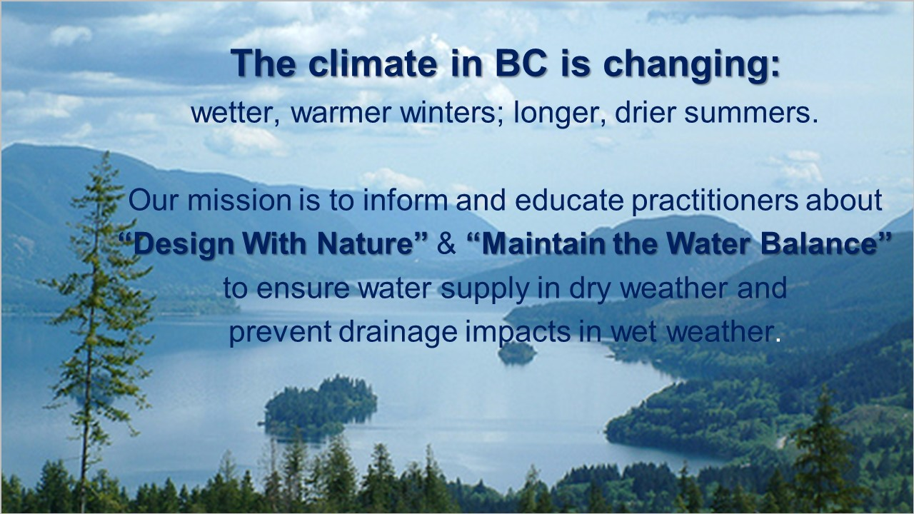 Mission of the Partnership for Water Sustainability in British Columbia