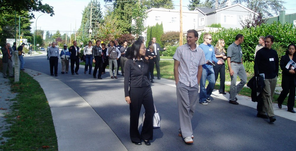 2006 Showcasing Green Infrastructure Innovation Series featured the newly completed Crown Street Sustainable Streetscape