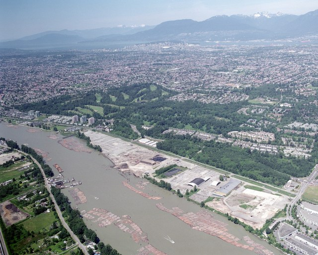 Redevelopment of the former mill site at East Fraserlands (on the Fraser River) for residential purposes creates an opportunity to improve the surrounding physical environment.