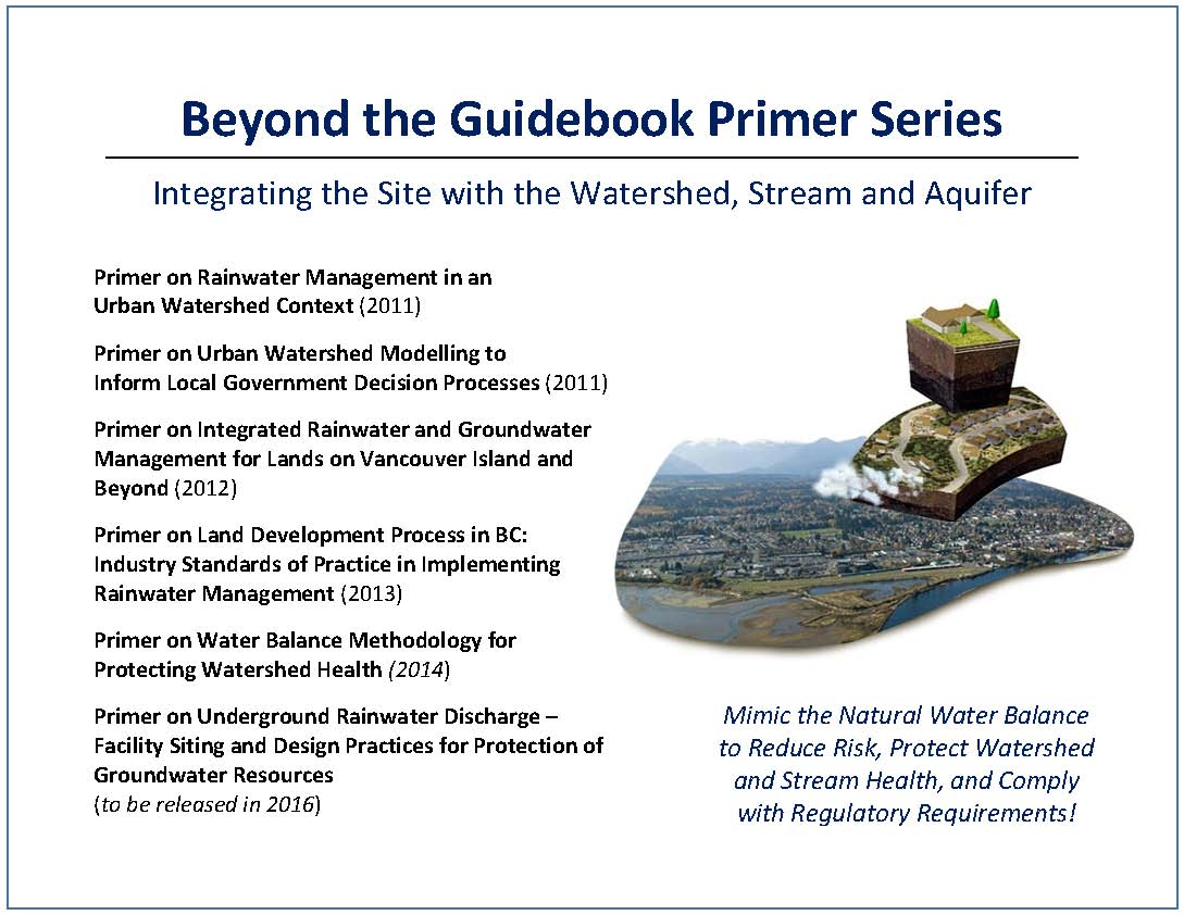 Beyond the Guidebook is an ongoing initiative to provide local governments and practitioners with tools, resources and understanding to integrate the Site with the Watershed and the Stream.