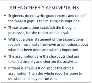 An Engineers Assumptions