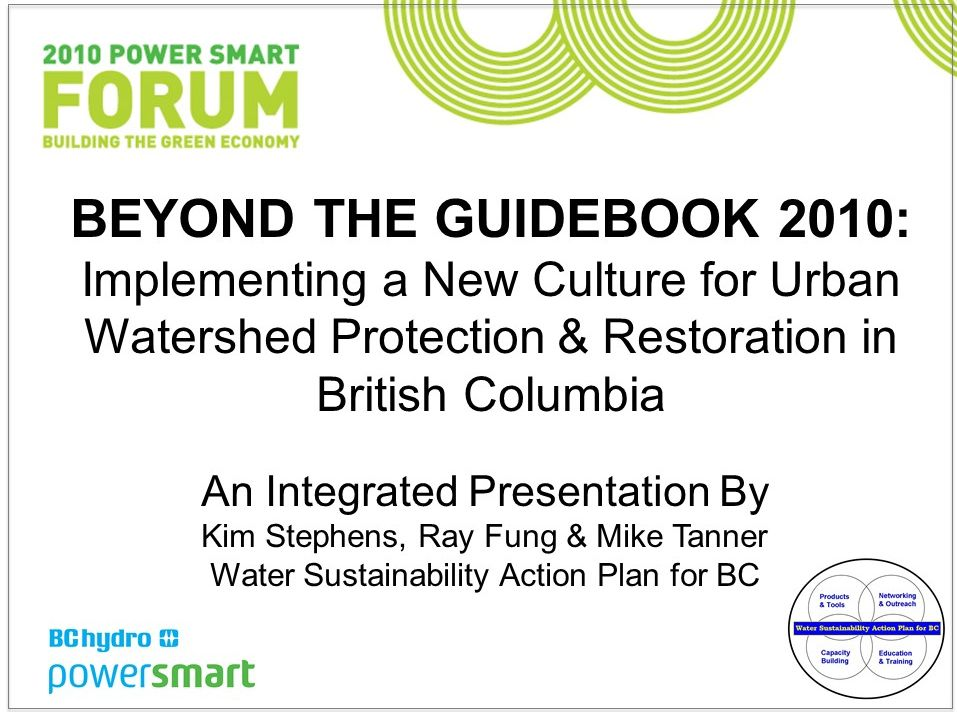 BC Hydro Forum_Beyond the Guidebook2010_Oct2010