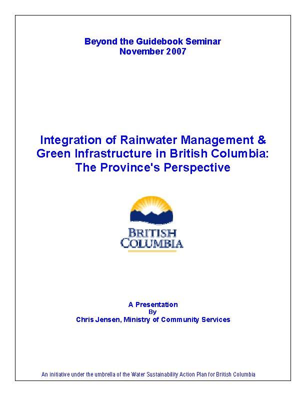 Beyond-Guidebook_Provincial-Perspective_Chris-Jensen_Nov-2007_cover