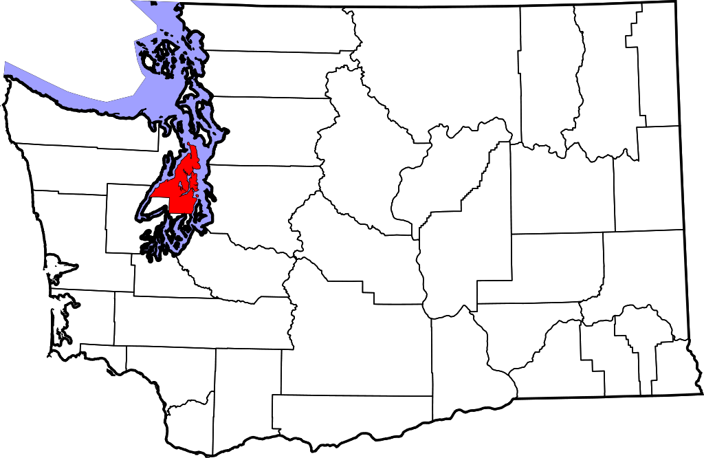 map of Puget Sound highlights Kitsap County