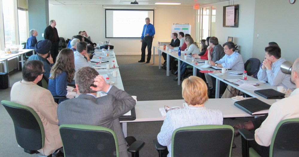 April 2011 – Dr. Charles Rowney explains modelling fundamentals at a Water Balance Model Partners Forum hosted by Metro Vancouver