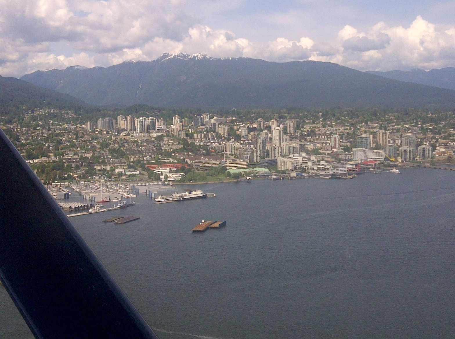 Metro Vancouver's North Shore – in the foreground, the City of North Vancouver urban centre