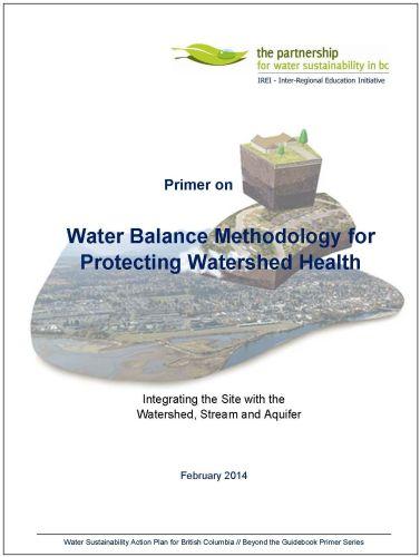 Primer on Water Balance Methodology_Feb-2014_cover_500p