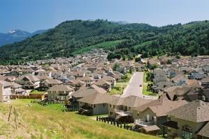 Hillside development in the City of Chilliwack
