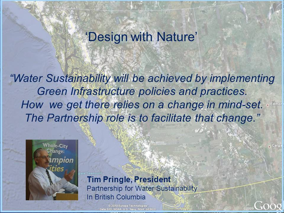 Sustainable Service Delivery: 'Design with Nature', Protect