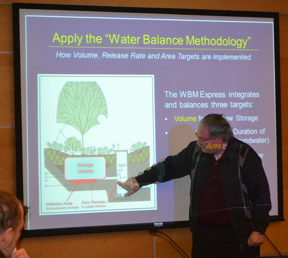 Jim Dumont explains how to apply performance targets to design the components of a rain garden.