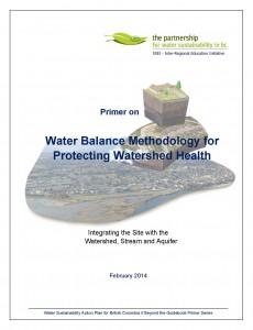 Primer on Water Balance Methodology_Feb-2014_cover
