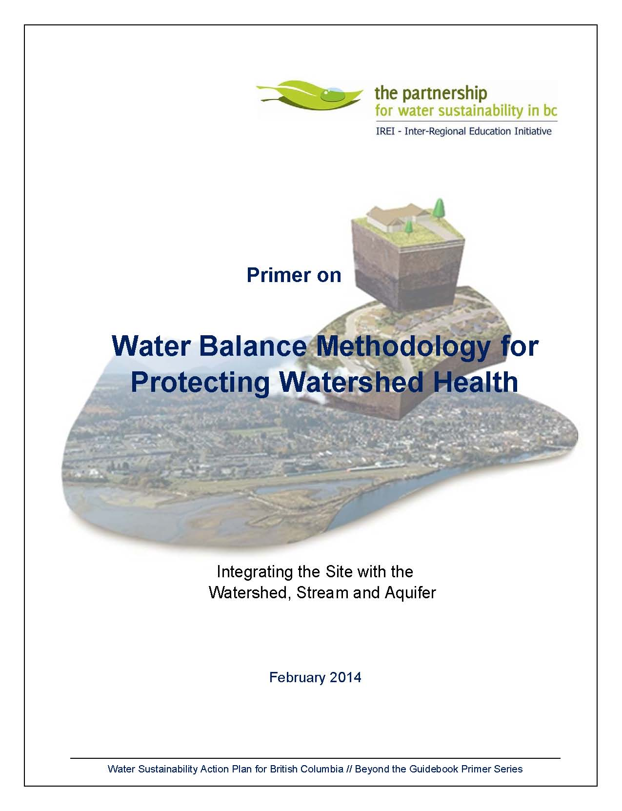 Primer on Water Balance Methodology_Feb-2014_cover