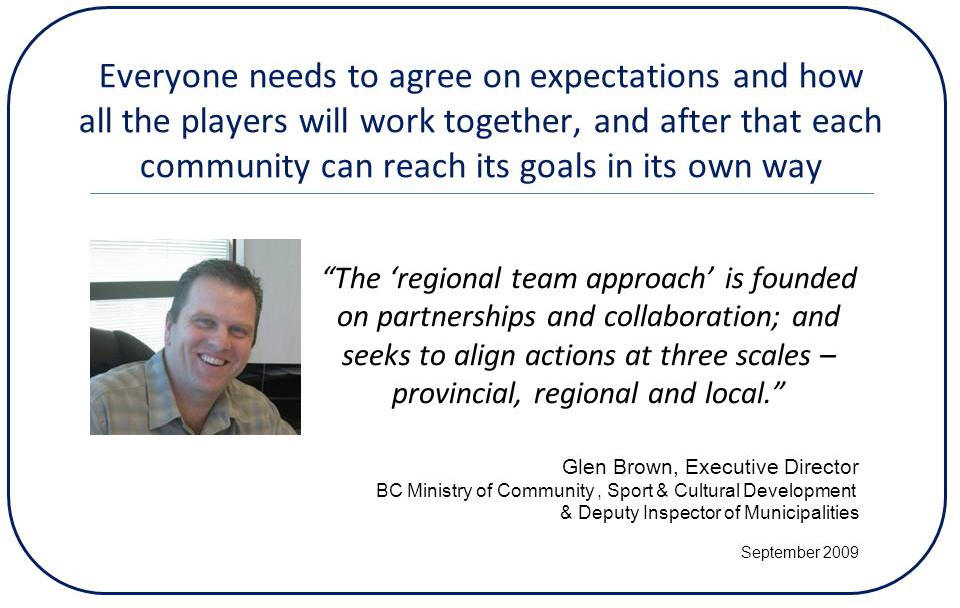 Regional-Team-Approach_Glen Brown quote_Sep2011