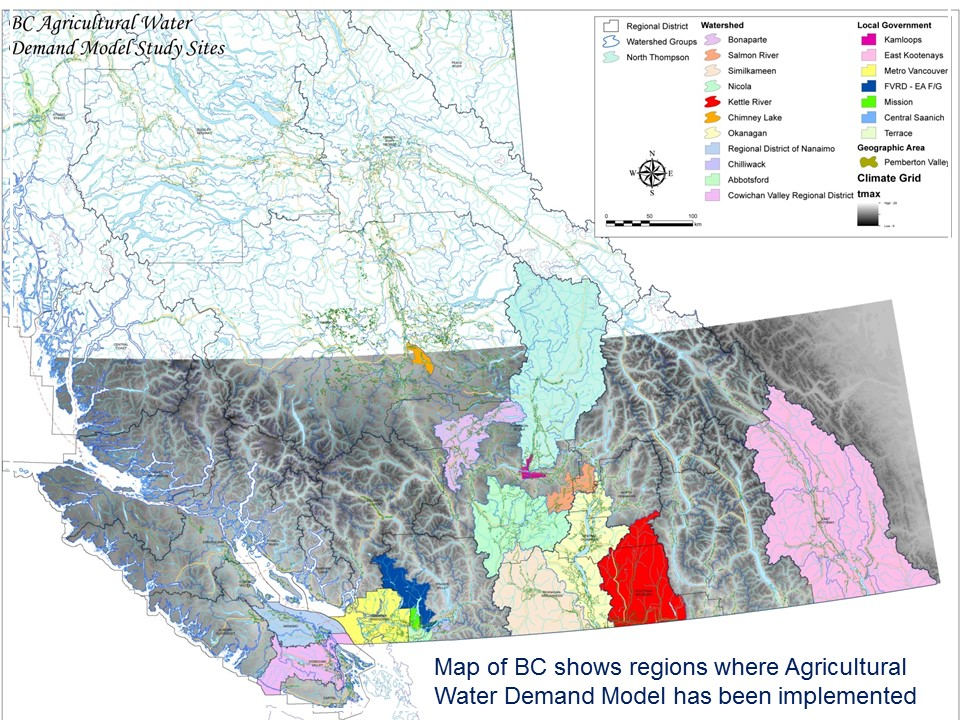 Ag Water Demand Model_study areas
