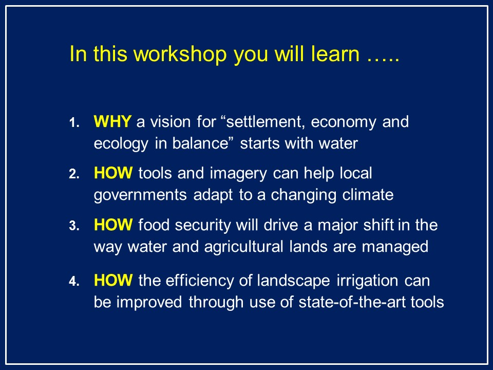 2014 Managing Water Workshop_learning-outcomes