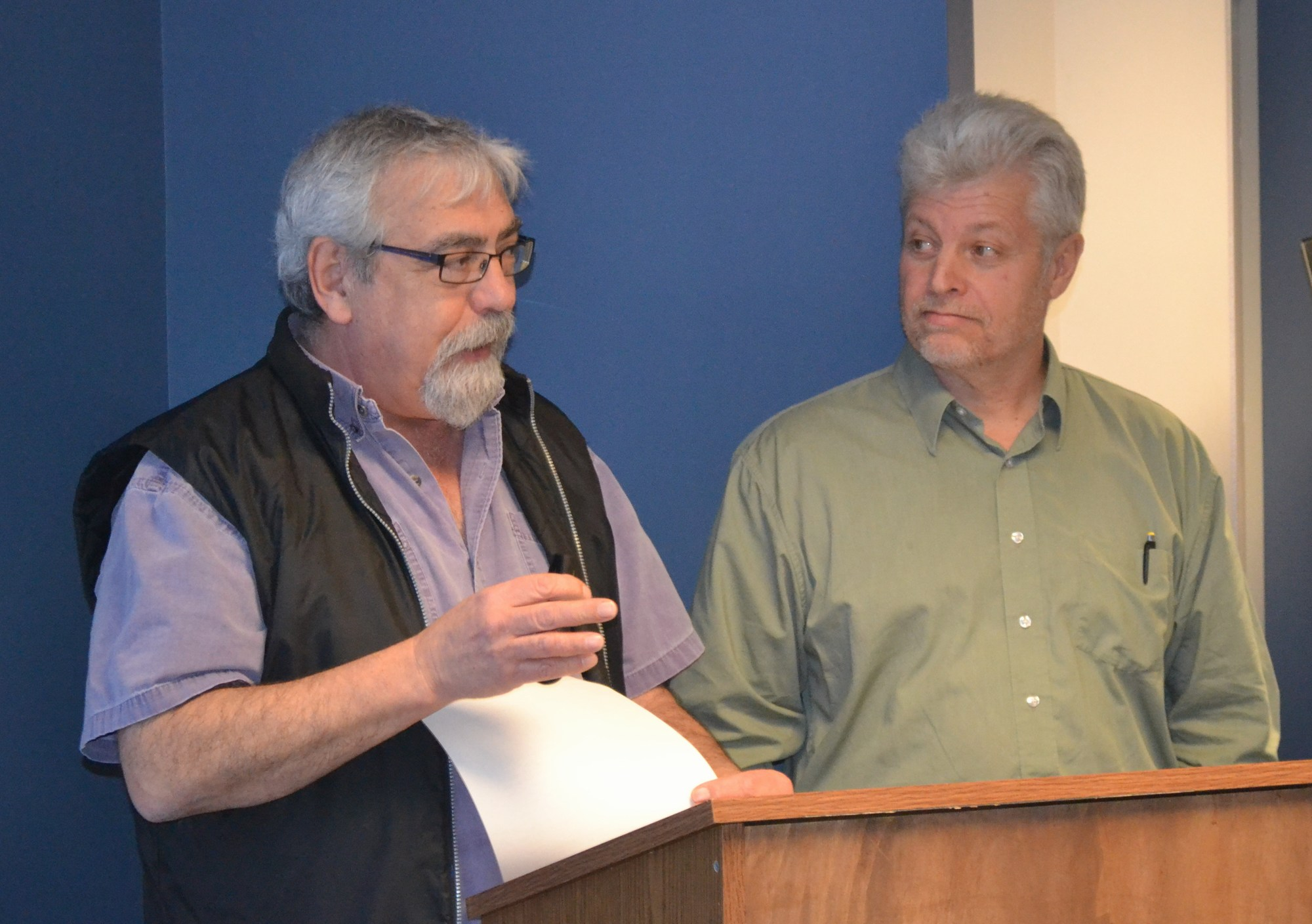 Jack Minard & David Stapley of the Comox Valley Land Trust