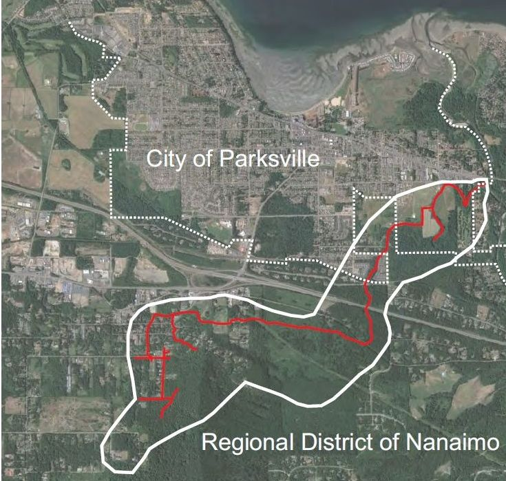 Shelly Creek Watershed in the Nanaimo Region