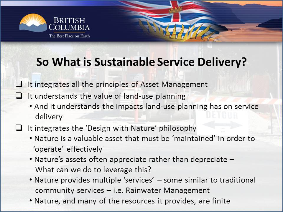 2011_Sustainable Service Delivery_Glen-Brown-summary