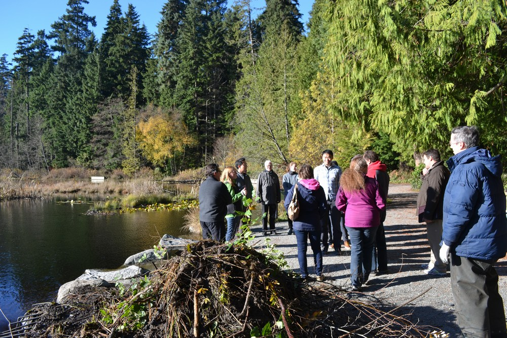 At lunchtime, workshop participants went for a walkabout at Beaver Lake in Stanley Park to view the scope of the restoration project