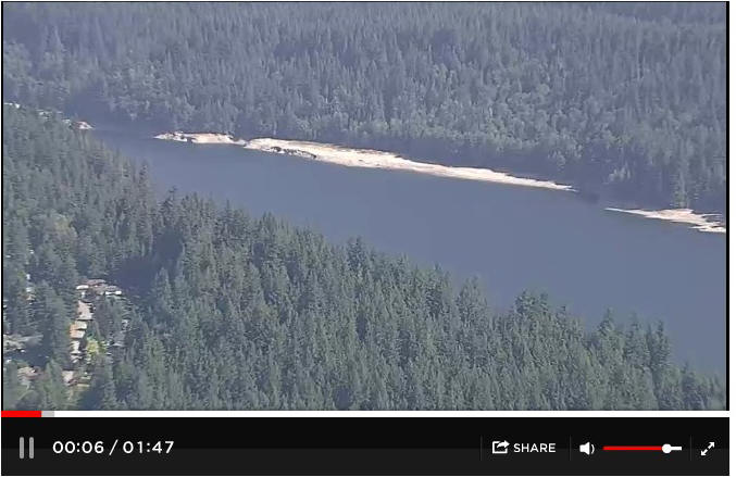 WATCH: Aerials of the Vancouver reservoir show just how low the water levels were on July 3, 2015. To view, click on http://globalnews.ca/video/2090921/aerials-low-water-level-at-vancouver-reservoir