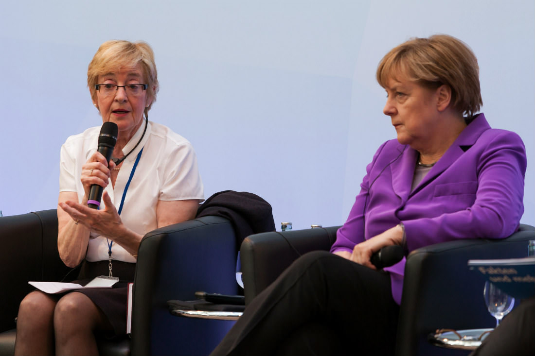 Maude Barlow with German Chancellor Angela Merkel