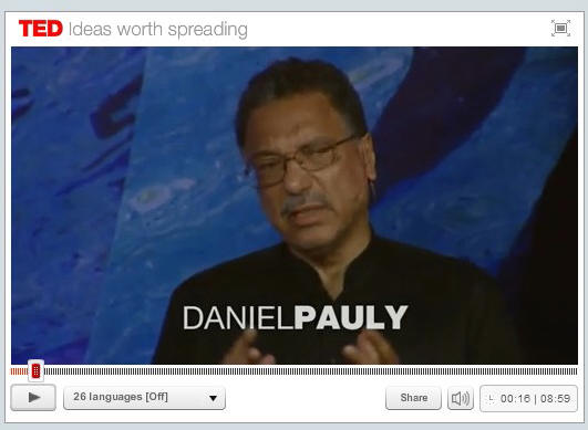 TO VIEW VIDEO, CLICK ON THE IMAGE ABOVE OR GO TO: http://mission-blue.org/2012/03/shifting-baselines-daniel-paulys-ted-talk/