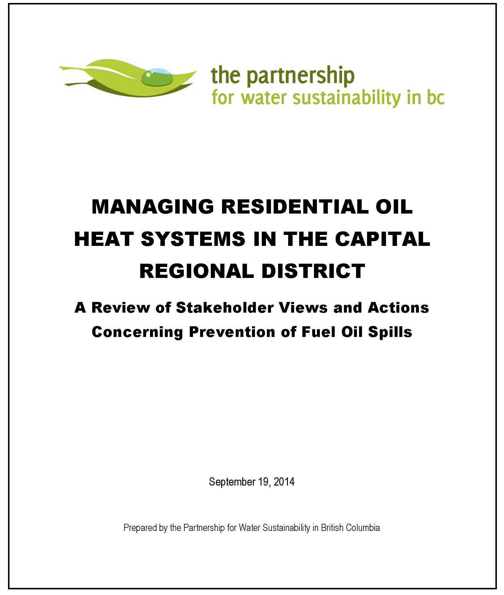 PWSBC_Managing Residential Oil Heat Systems in the Capital Region_Nov-2014._cover trimmed