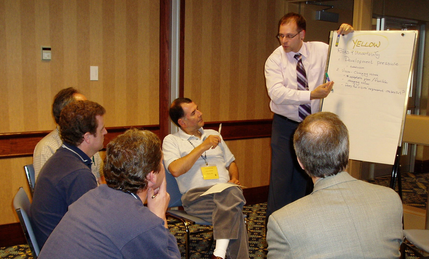Robert Hicks leading a breakout group at the 2005 Achieving Water Balance Workshop
