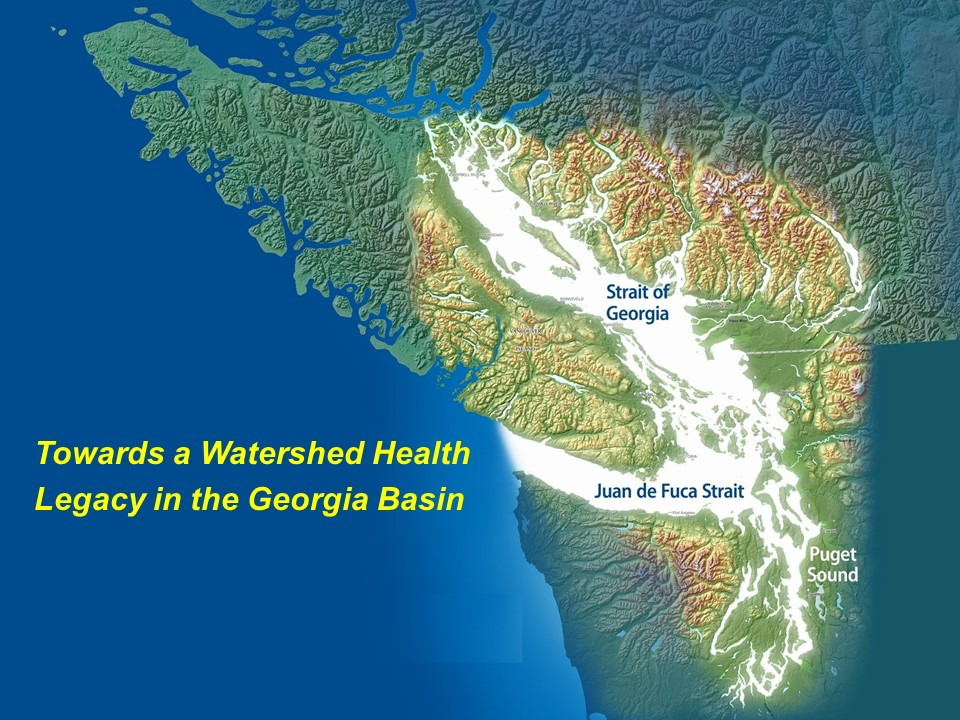 The Georgia Basin is comprised of lands and watersheds that surround and drain into the Salish Sea. This inland sea encompasses the Strait of Georgia, Puget Sound and the Strait of Juan de Fuca. Tributary lands include the east coast of Vancouver Island, Metro Vancouver and the Fraser Valley.